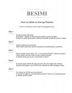 BESIMI (Albanian - Faith)