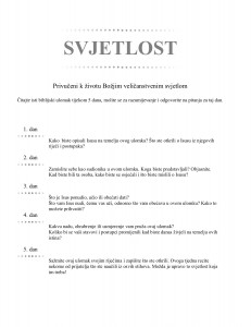 SVJETLOST (Croatian - Light)