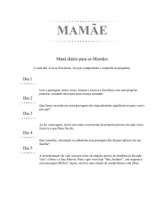 MAMÃE (Portuguese - Mommy)