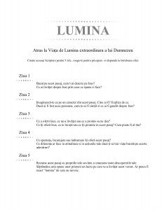 LUMINA (Romanian - Light)