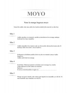 MOYO (Swahili - Heart)